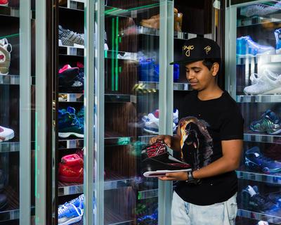 Inside Money Kicks' Sneaker Museum