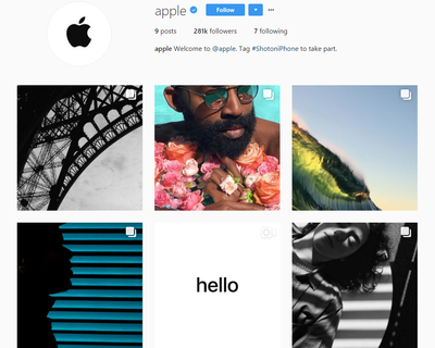Apple finally has an Instagram page!
