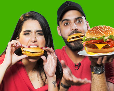 The Burger Challenge with Omar Borkan al Gala and Shahad Al Khattab