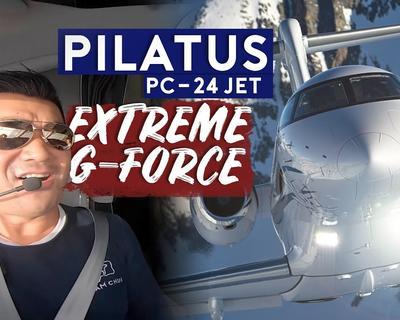 Sam Chui Does A Test Flight on Pilatus PC-24 Jet