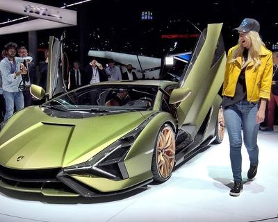 Supercar Blondie Covers The Launch of The Lamborghini Sian
