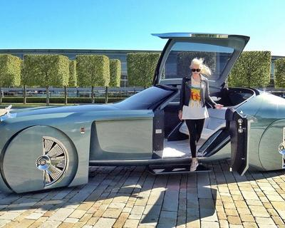 Supercar Blondie Checks Out The Rolls Royce of The Future