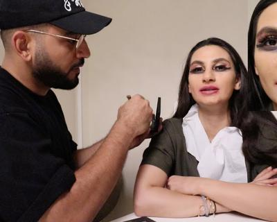 DJ Bliss Does His Wife's Makeup For Date Night