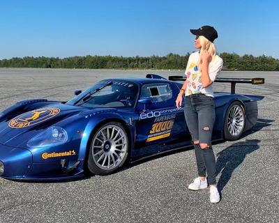 Supercar Blondie Checks Out World's Only Street Converted Maserati MC12 Corsa