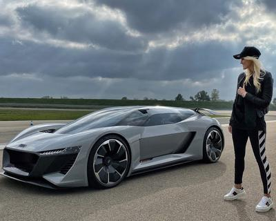 Supercar Blondie Checks Out The Future of Audi Supercars