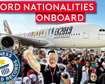 Emirates Sets A World Record For Most Nationalities Onboard A Flight