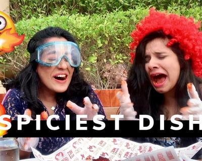 Naomi D'Souza Tries The Spicy Dish Challenge with Nidhi Kumar