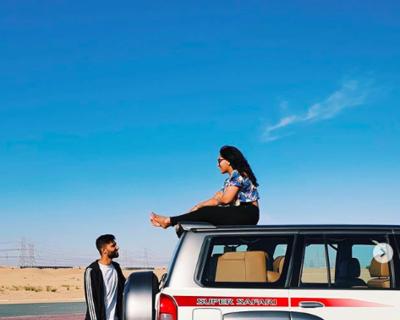 Naomi D'Souza Celebrates in the Desert with Nissan
