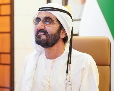 H.H Sheikh Mohammed took to Zoom to check in with UAE Diplomats