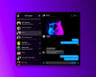 Desktop Messenger officially Launched by Facebook on Mac OS and Windows