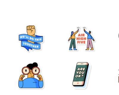 WhatsApp and the WHO have partnered on a 'Together at Home' Sticker Pack