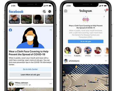 Facebook and Instagram to remind users to wear face mask with prompt message