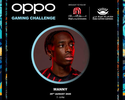 MANNY JOINS OPPO GAMING CHALLENGE FOR THE CLOSING WEEKEND OF DUBAI SUMMER SURPRISES AT MALL OF THE EMIRATES