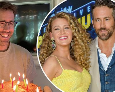 Blake Lively pokes fun at Ryan Reynolds on Instagram for his birthday.