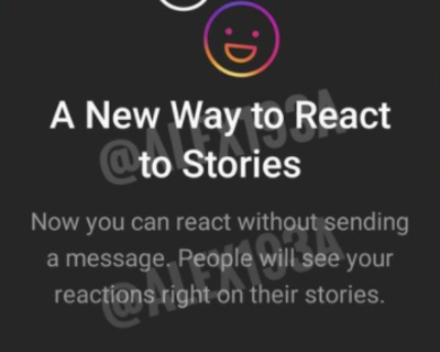 Instagram tests options for Users to react to stories without sending DM's